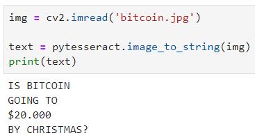 使用一行Python代码从图像读取文本