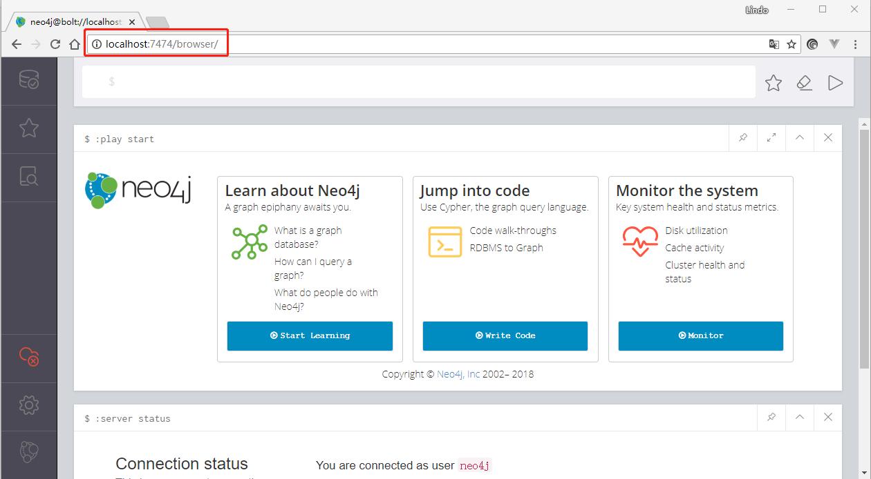 neo4j网页管理界面